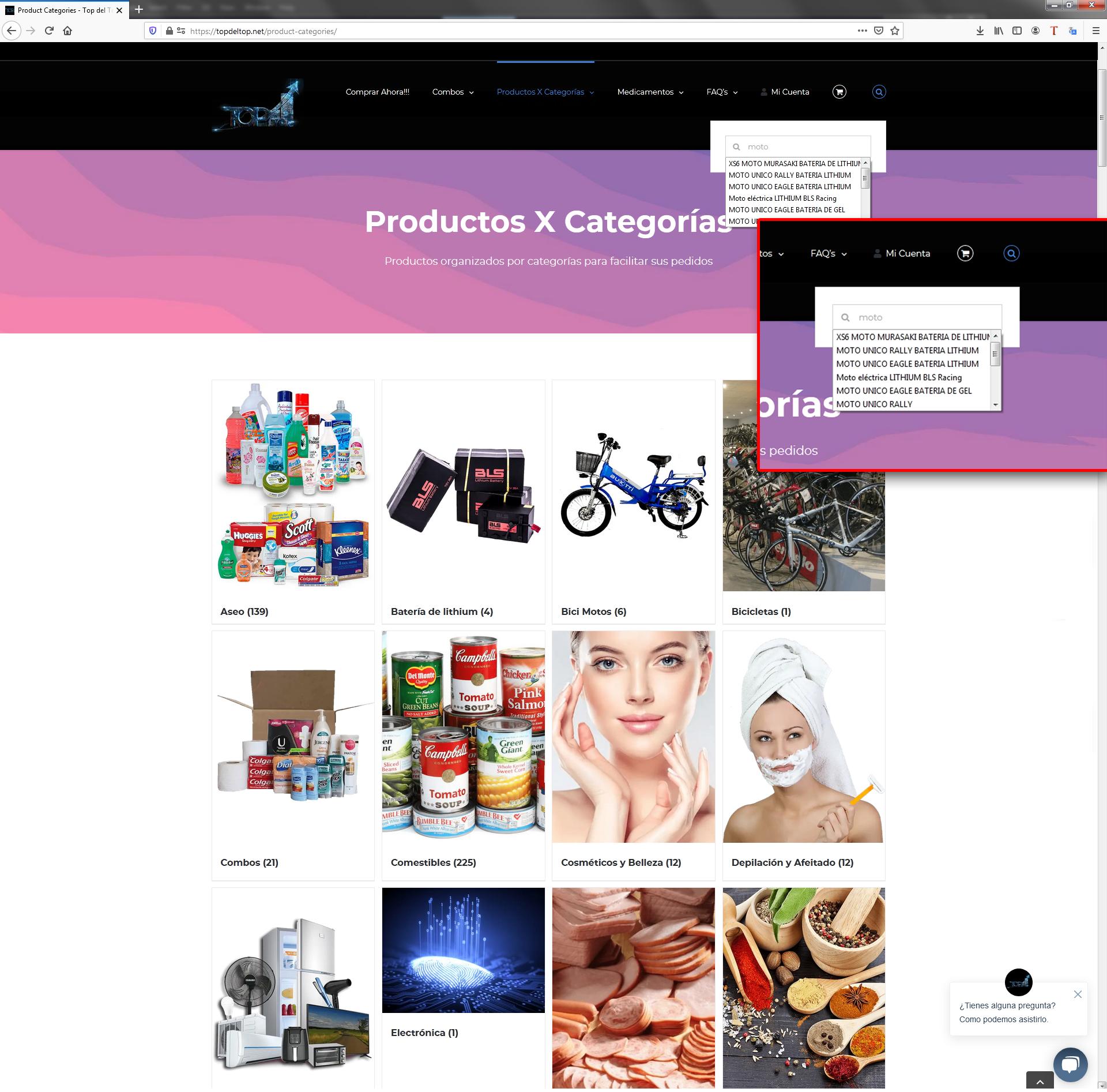 Como buscar productos
