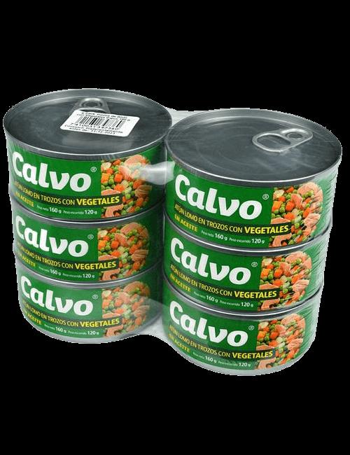 Calvo Atún Trozos con Vegetales 6 unidades/160 g