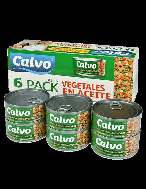 Calvo Atún con Vegetales 6 unidades/ 160 g