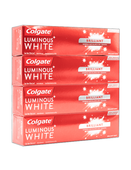 Colgate Luminous White Crema Dental 4 unidades /125 ml