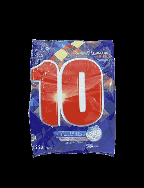 Detergente Para Ropa 10 1kg Polvo
