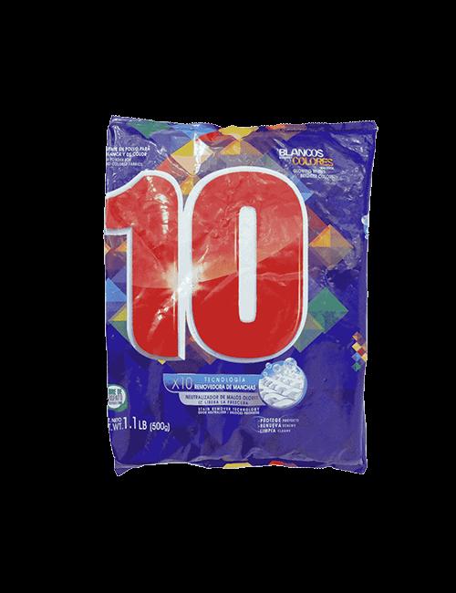 Detergente Para Ropa 10 500g Polvo