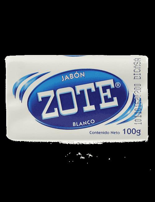 Detergente Para Ropa Zote 100g Barra Blanco