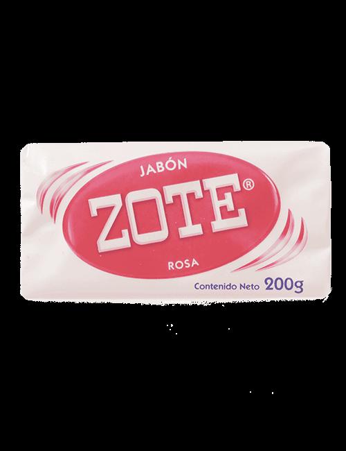 Detergente Para Ropa Zote 200g Barra Rosado
