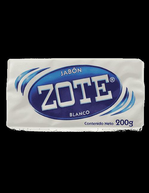 Detergente Para Ropa Zote 200g Barra Blanco