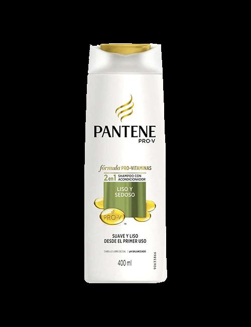 Shampoo Pantene 400ml Liso y Sedoso 2 en 1