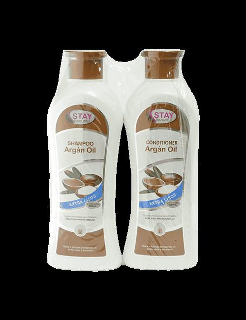 Shampoo Y Acondicionador Stay Beautiful 500ml Duo Aceite De Argán