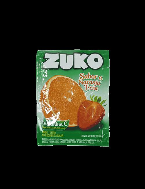 Refresco en Polvo Zuko 25g Naranja Fresa
