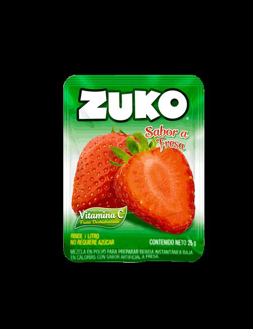 Refresco en Polvo Zuko 25g Fresa