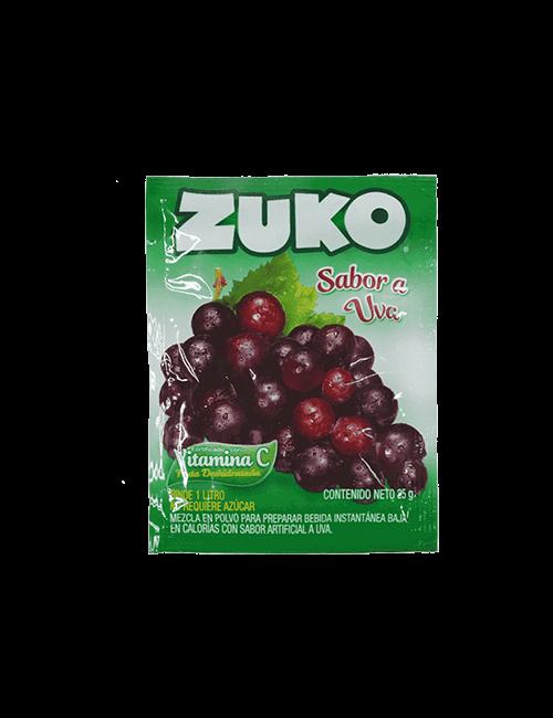 Refresco en Polvo Zuko 25g Uva