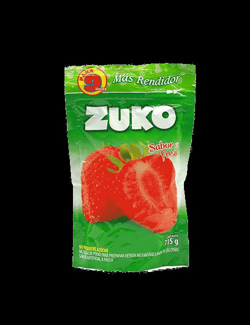 Refresco en Polvo Zuko 315g Fresa