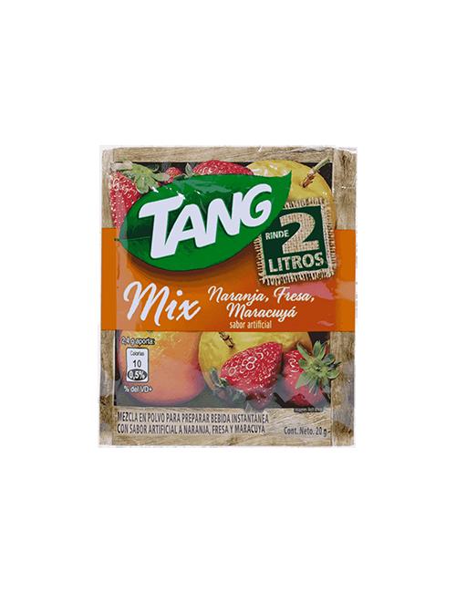 Refresco en Polvo Tang 20g Naranja Fresa Maracuya