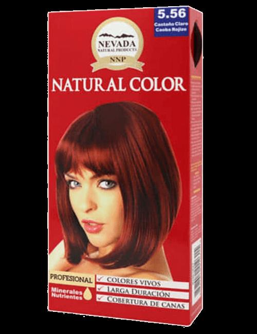 Tinte Natural Color - Castaño Claro Caoba Rojizo 5.56