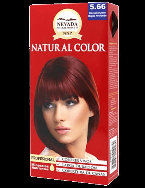 Tinte Natural Color - Castaño Claro Rojizo Profundo 5.66
