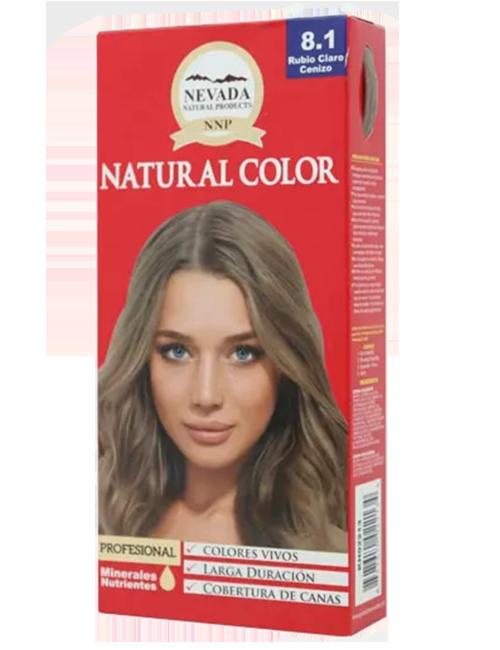 Tinte Natural Color - Rubio Claro Cenizo 8.1