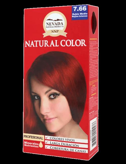 Tinte Natural Color - Rubio Medio Rojizo Intenso 7.66