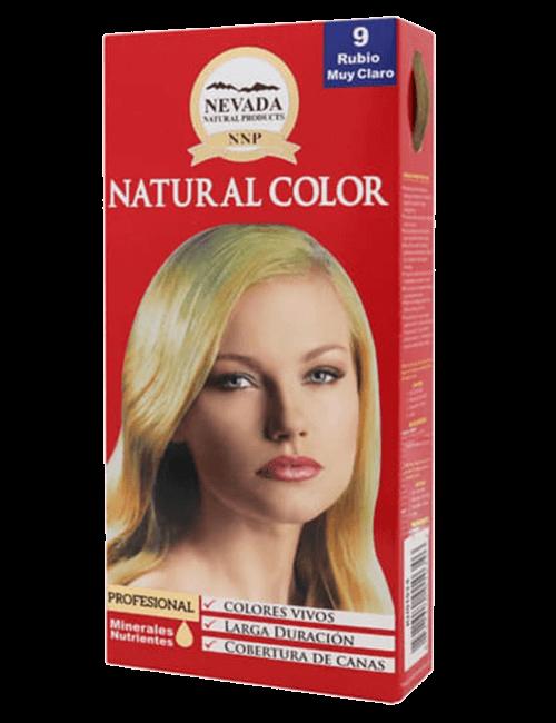 Tinte Natural Color - Rubio muy Claro Dorado 9