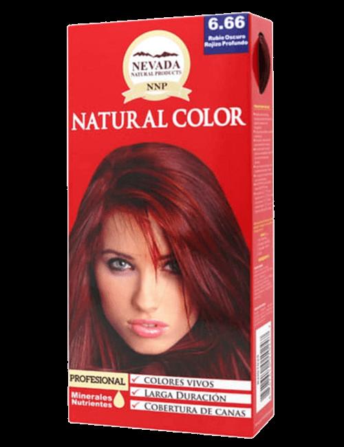 Tinte Natural Color - Rubio Oscuro Rojizo Profundo 6.66