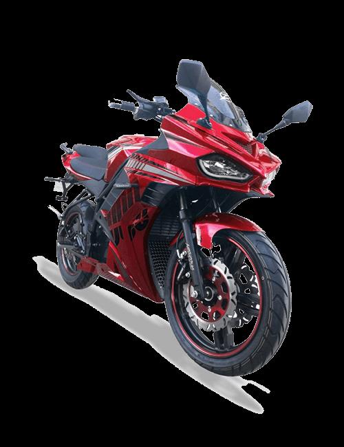 Moto eléctrica MISHOZUKI Racing 45AH Roja
