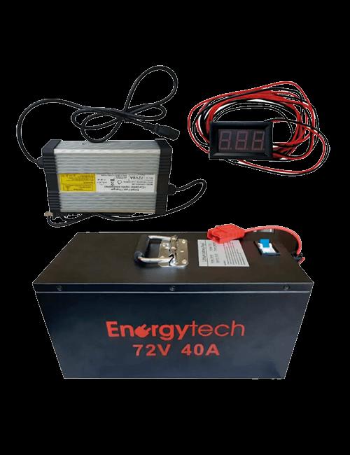 Batería 72V 40Ah de lithium EnergyTech
