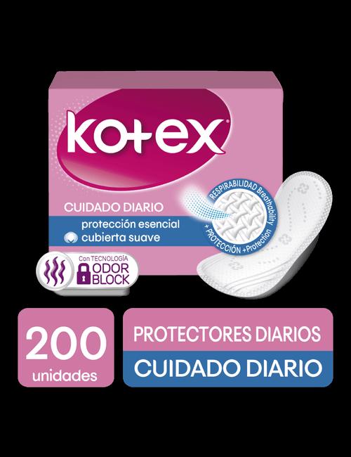 Toallas Femenina Kotex Cuidado Diario 200U.